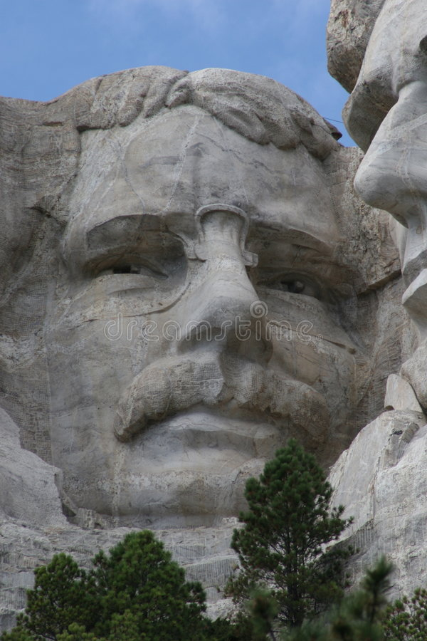 Teddy Roosevelt sur le support Rushmore photo stock