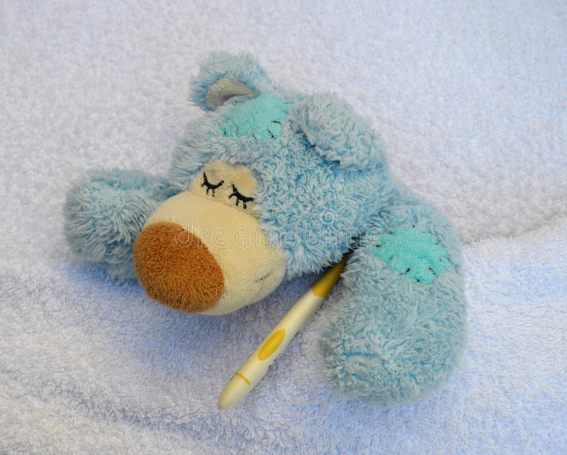 Download Teddy is sick stock photo. Image of bandage, hurt, head - 28703698