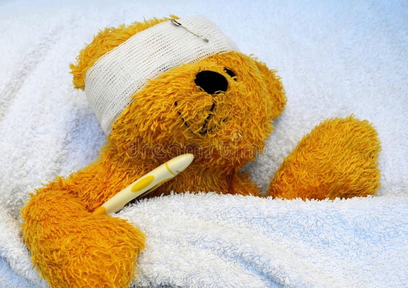 Download Teddy is sick stock image. Image of hospital, adorable - 28976537
