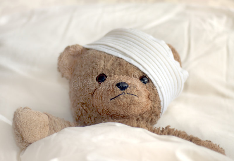 teddy szpitala zdjęcia royalty free