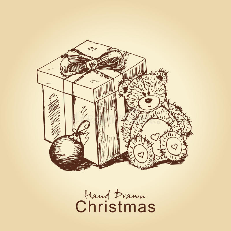 Free Teddy With Present Stock Images - 21924564
