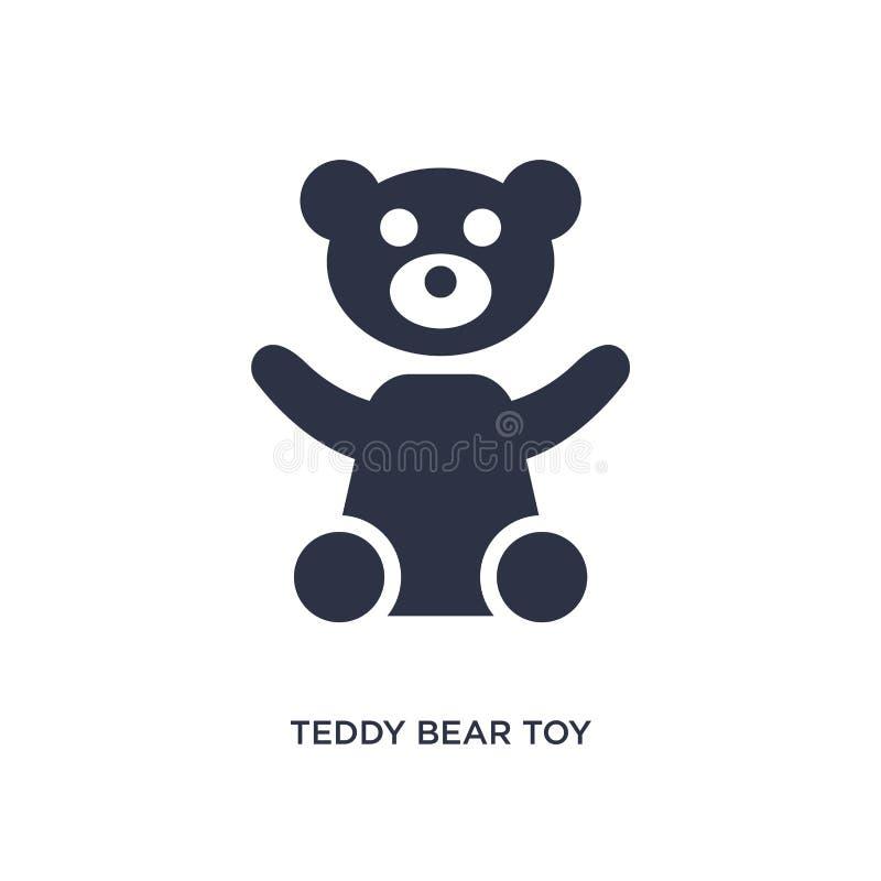 Teddybärspielzeugikone auf weißem Hintergrund Einfache Elementillustration vom Spielwarenkonzept stock abbildung