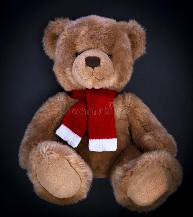 Teddybär betreffen einen dunklen Hintergrund stockfotos
