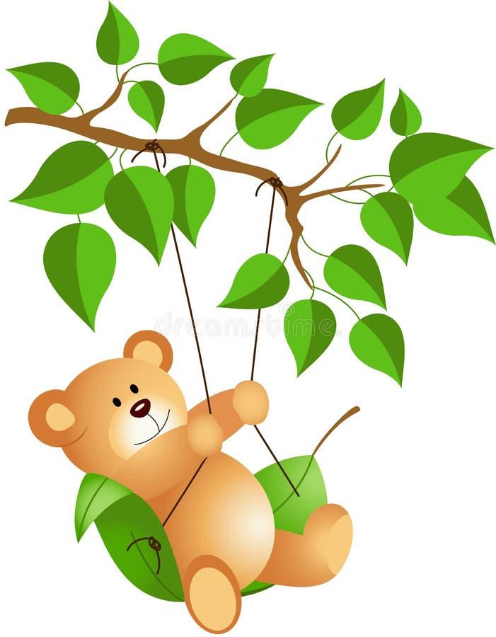 Download Teddybär, Der Von Einem Baum Schwingt Vektor Abbildung - Illustration von valentine, vektor: 47100845