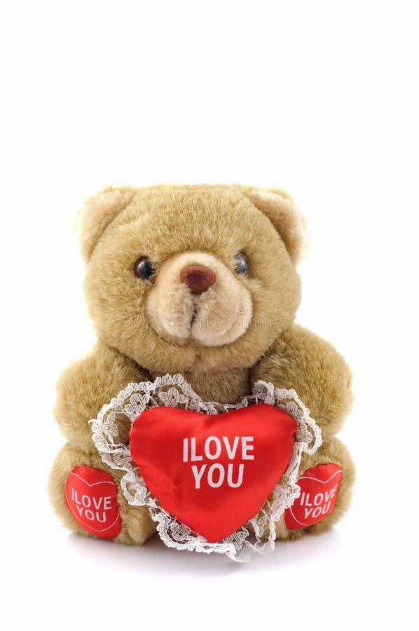 Teddybär für Valentinsgruß stockfotografie