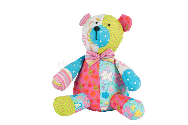 Teddybär getrennt auf Weiß stockfotografie