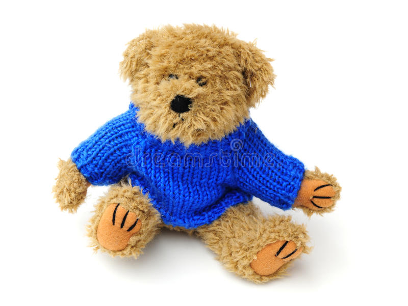 Teddybär mit Überbrücker lizenzfreie stockfotos