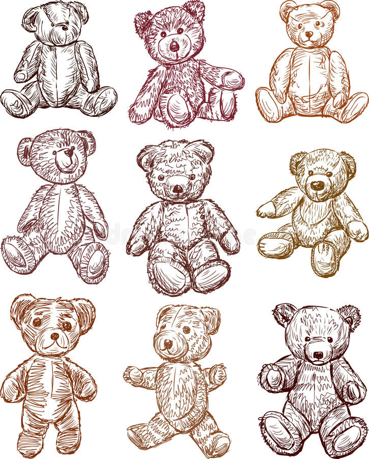 Teddybären stock abbildung