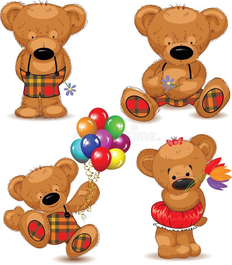 Teddybären, Set. Vektor. lizenzfreie abbildung