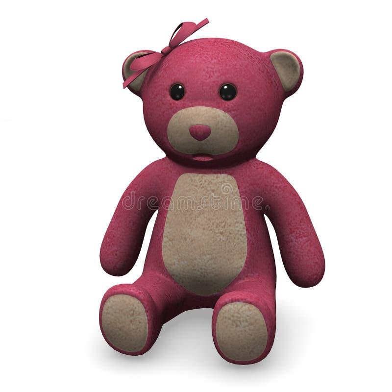 Teddybärmädchen stock abbildung
