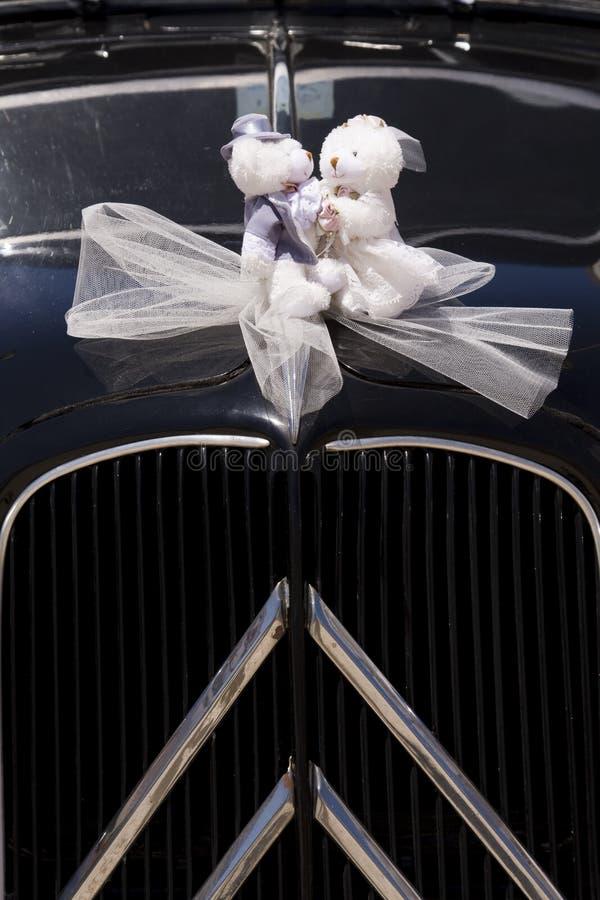 Teddybear Braut und Bräutigam stockfotografie