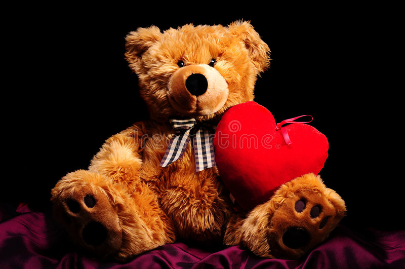 Download Teddybear with heart stock image. Image of cuddle, plush - 7468941