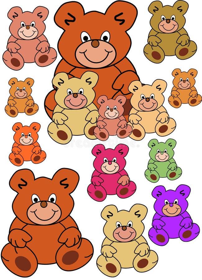Download Teddybears stock vector. Illustration of brown, illustration - 3081000