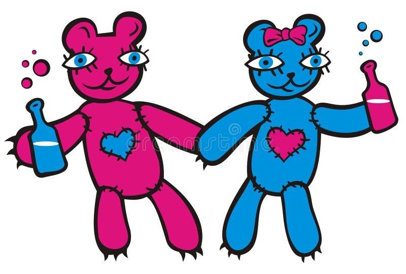 Teddybears ilustração stock