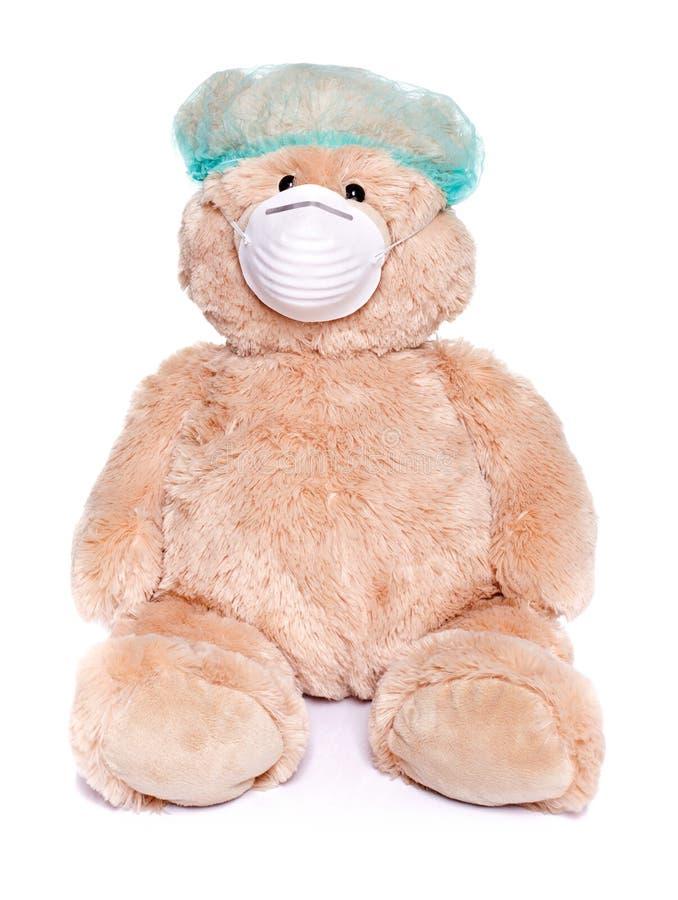 Teddybeer als arts royalty-vrije stock foto