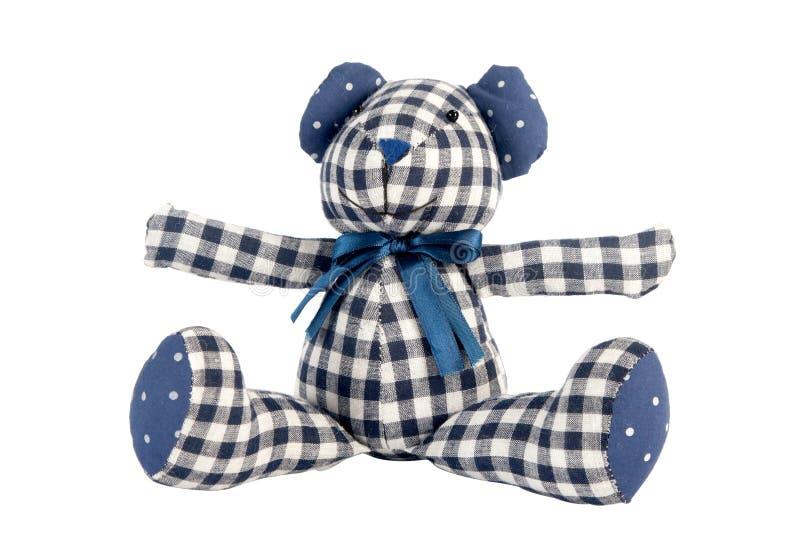 Teddybeer die op wit wordt geïsoleerdt royalty-vrije stock foto's