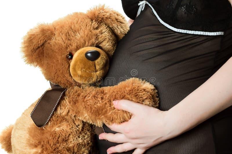 Teddybeer en buik royalty-vrije stock foto's