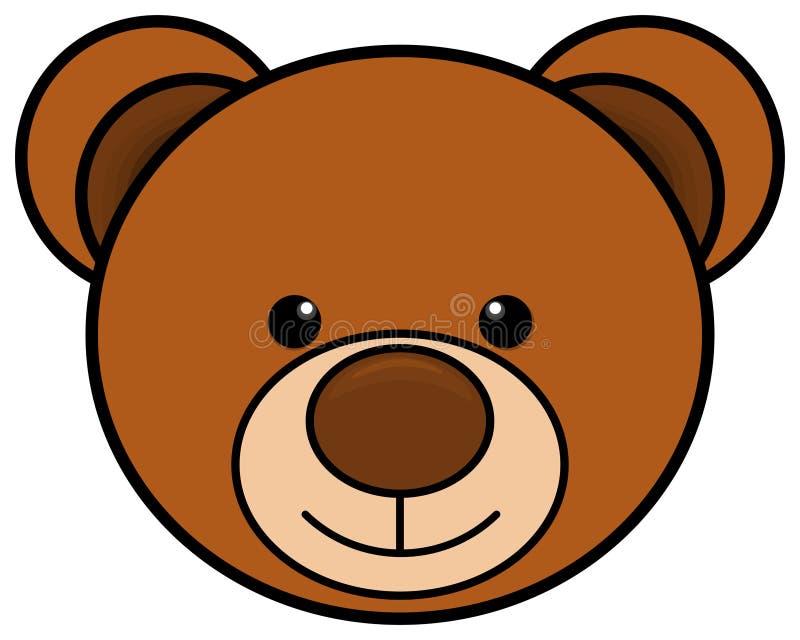 Teddybeer hoofdpictogram Leuk stuk speelgoed clipart Vector illustratie vector illustratie