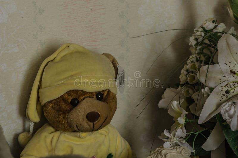 Teddybeer met GLB royalty-vrije stock foto