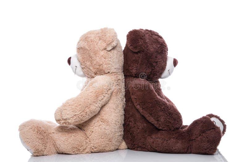Teddybeer - minnaars hebben problemen - concept voor problemen, vriend royalty-vrije stock afbeeldingen