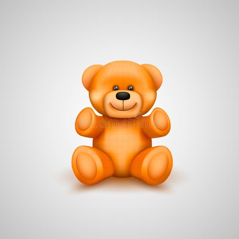Teddybeer op een witte achtergrond stock illustratie