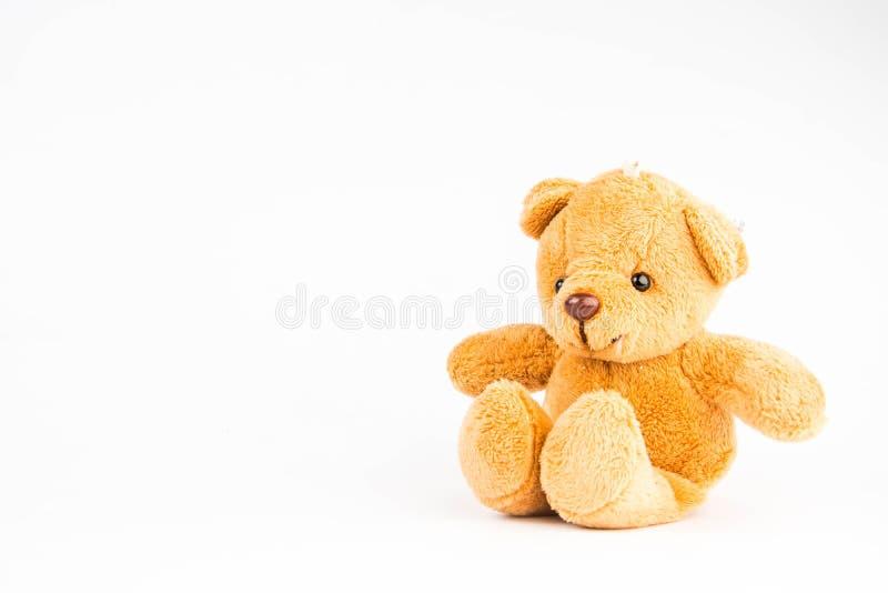 Teddybeer op witte achtergrond stock afbeeldingen