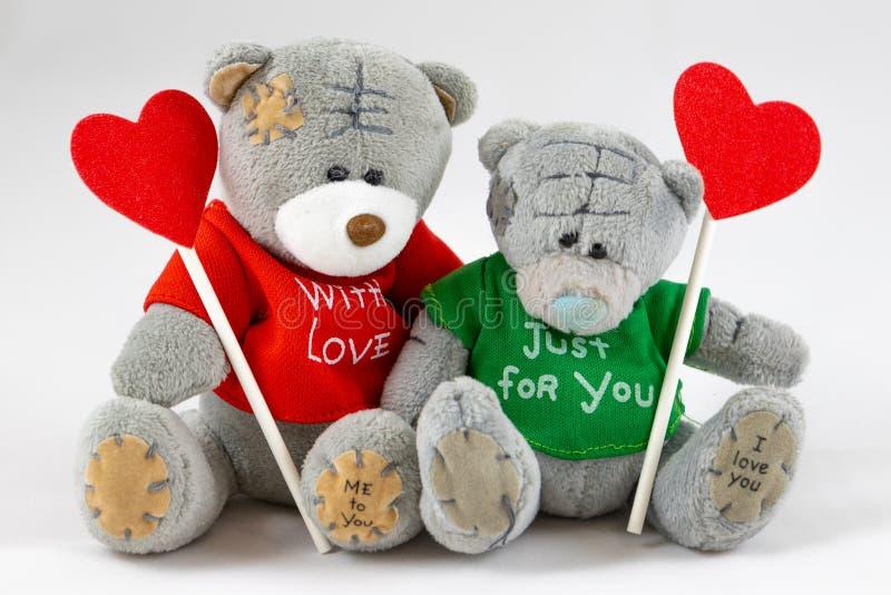 teddybeer twee met Hart stock foto