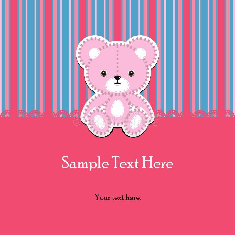 Teddybeer voor jongen stock illustratie