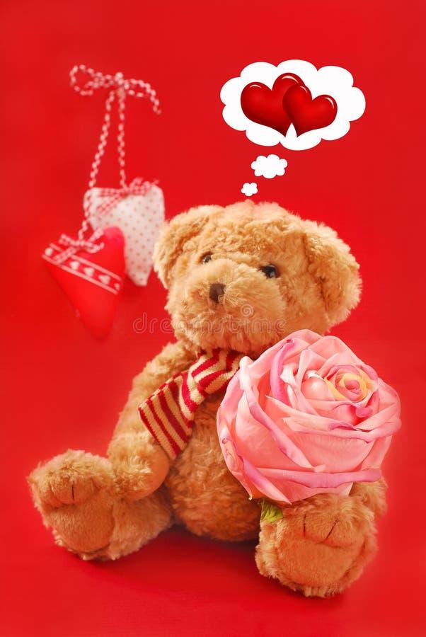 Teddybeer voor valentijnskaarten royalty-vrije stock foto