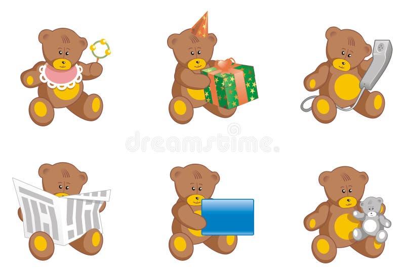 Teddyberen stock illustratie