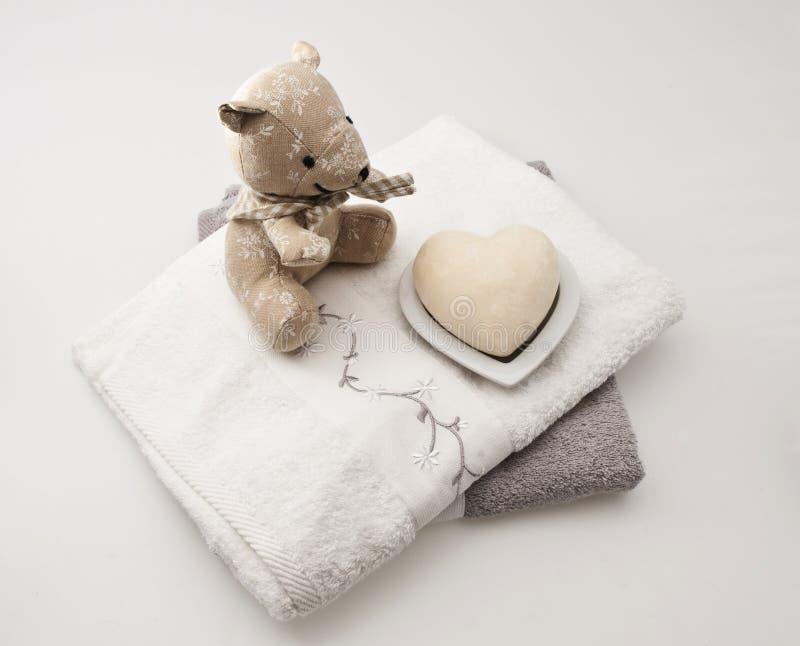 Download Teddyberen en badconcept stock foto. Afbeelding bestaande uit badkamers - 10778964