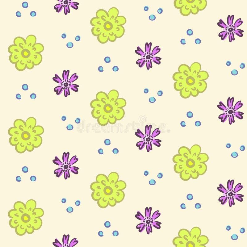 Teder bloemenpatroon stock illustratie