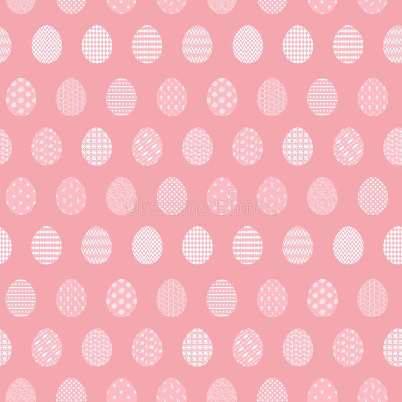 Teder roze patroon met paaseieren royalty-vrije illustratie
