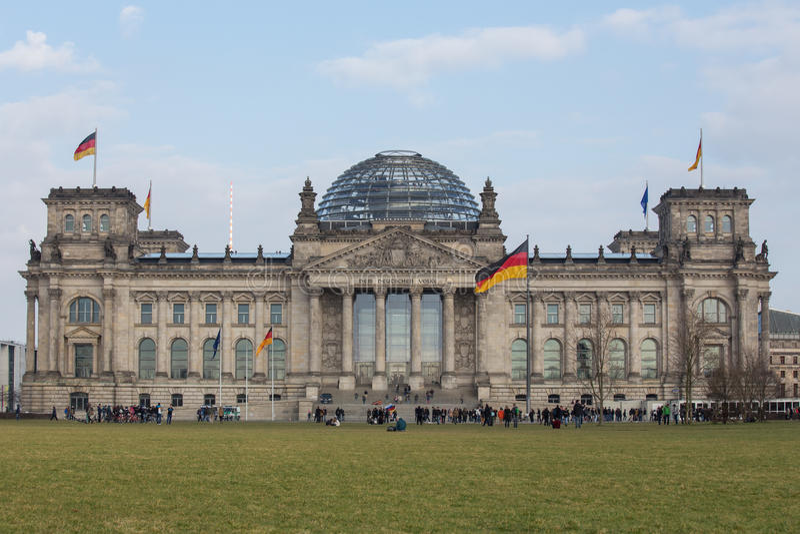 Tedesco Bundestag a Berlino fotografia stock