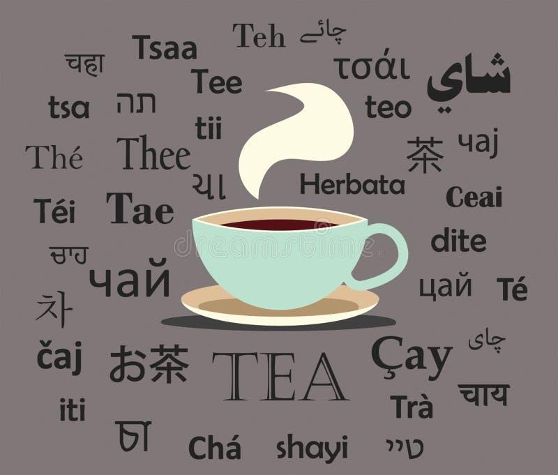 Tee auf der ganzen Welt vektor abbildung