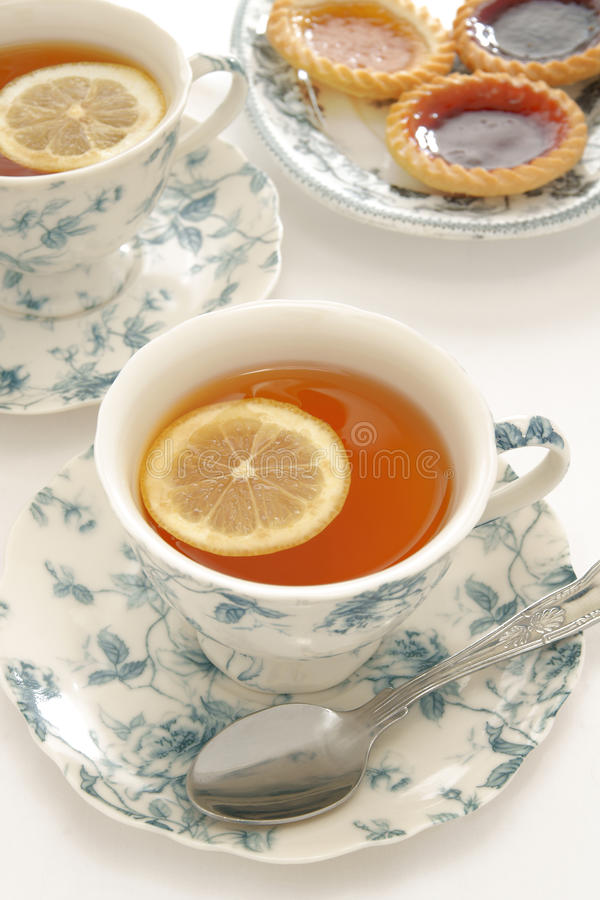 Tee Earl Grey stockbild
