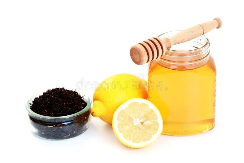 Tee mit Honig und Zitrone lizenzfreies stockfoto