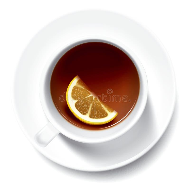 Tee mit limon vektor abbildung