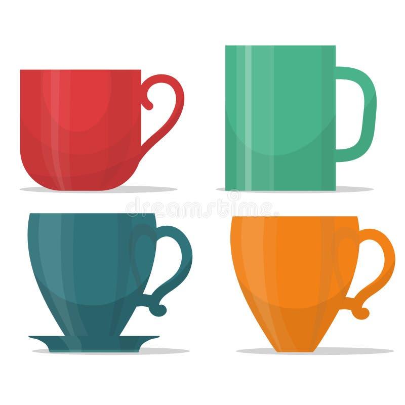 Tee mug cup set royalty free illustration