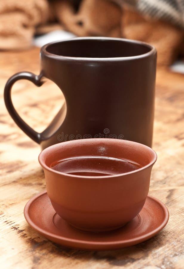 Download Tee oder Kaffee stockbild. Bild von sahne, klein, weiß - 12202533