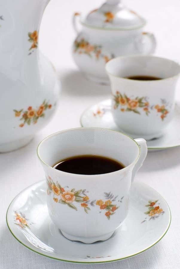 Tee- oder Kaffeeset lizenzfreies stockbild
