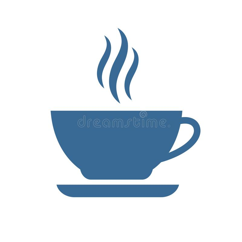 Tee- oder Kaffeetassevektorikone vektor abbildung