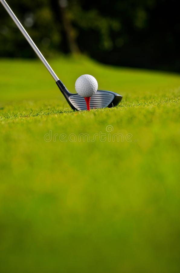 Tee Off At A Golf Course royalty free stock images