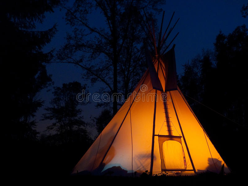 Tee-pee stock photography