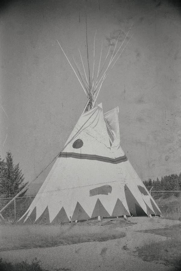 Tee Pee. An indigenous tee pee on display stock photography