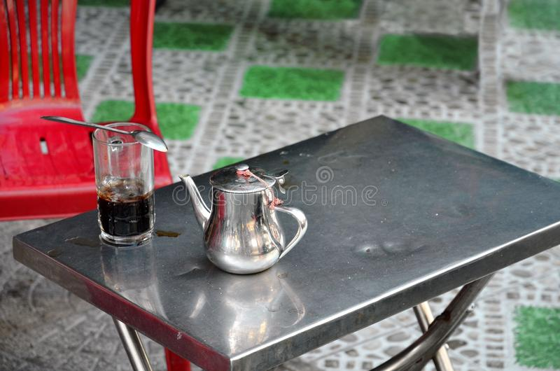 Tee in Saigon Vietnam stockfotos