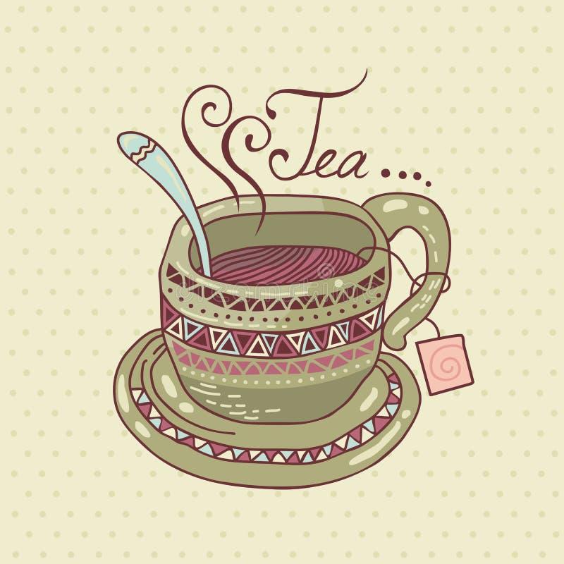 Tee-Schale lizenzfreie abbildung
