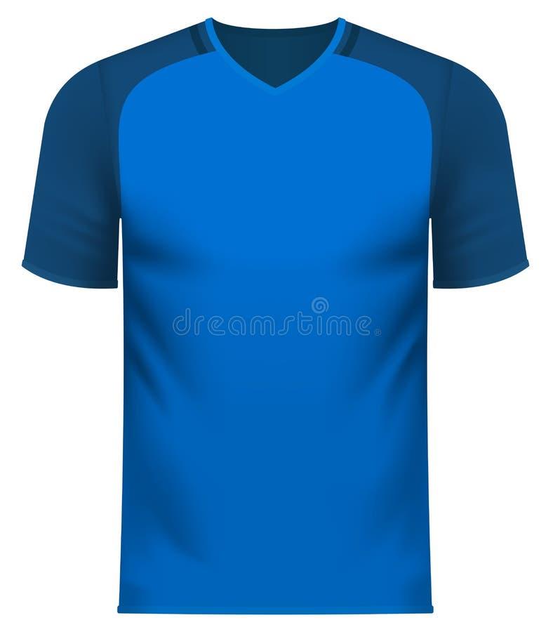 Tee-shirt d'équipe de sports dans le modèle commun générique de couleur illustration stock