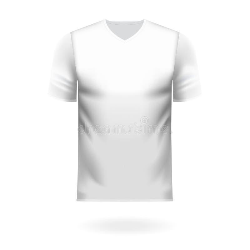 Tee-shirt de décolleté en V dans la couleur blanche générique illustration libre de droits