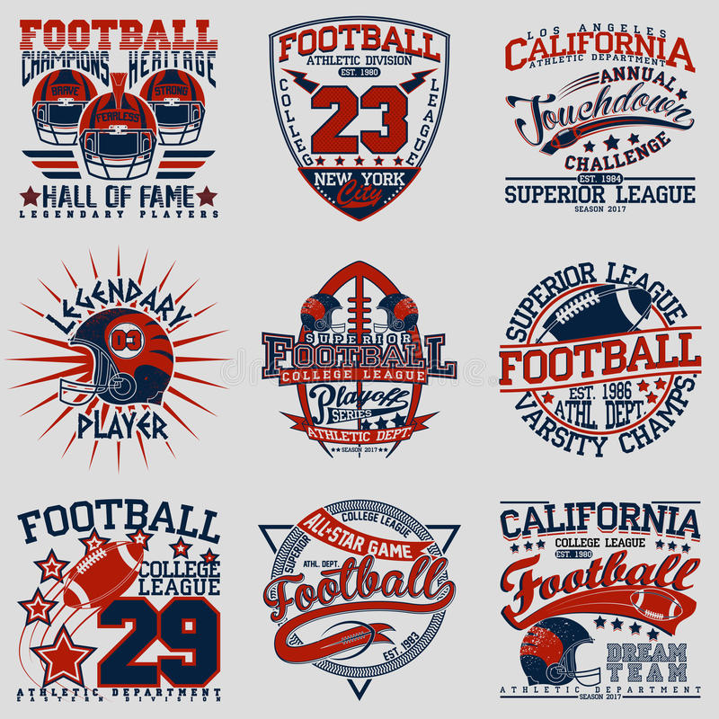 Tee shirt print designs. Set of Grunge Sport t-shirt graphic designs, Vintage Sport print stamps, Sports wear typography emblems, Creative design, Vector stock illustration